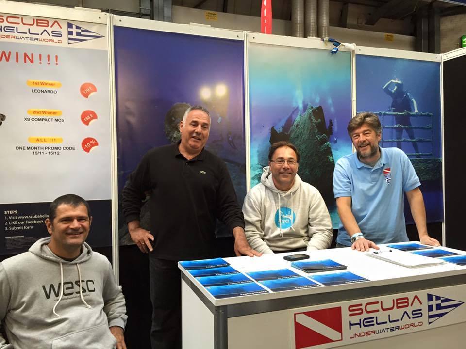 Scuba Hellas at Birmingham Dive Show (DIVE) held at London's NEC.