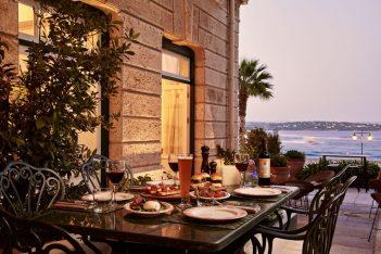 """Poseidonion's """"Il Cortile"""" restaurant."""