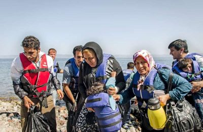 Refugees arrive in Greece by sea mainly from countries experiencing war and conflict.