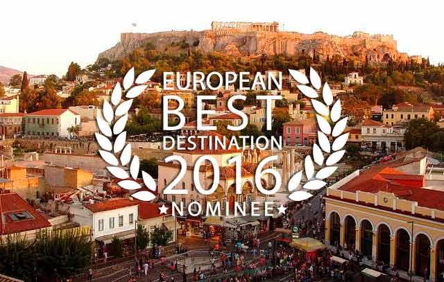 Athens, Greece - European Best Destination 2016 - Nominee