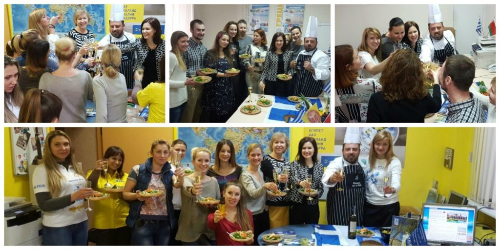 """Greece on a Dish"" at the offices of Mouzenidis Travel in Russia."