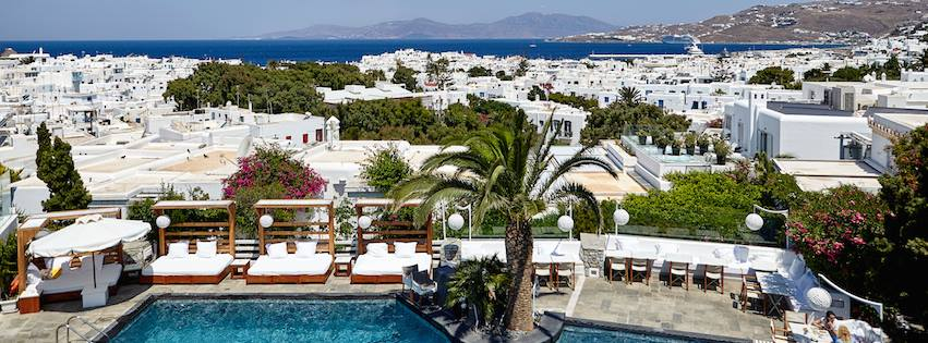Belvedere Hotel on Mykonos, a member of the Small Luxury Hotels.