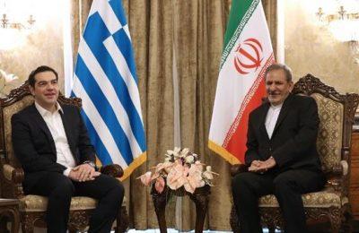 Greek Prime Minister Alexis Tsipras and Iranian Vice President Eshaq Jahangiri. Photo source: theiranproject.com
