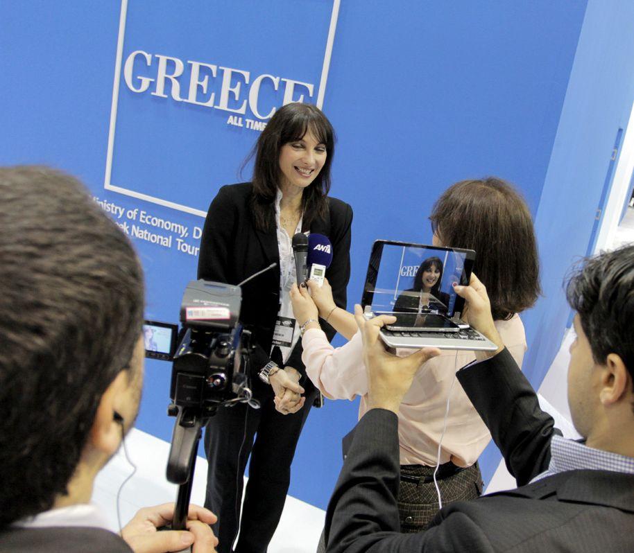Greek Alternate Tourism Minister Elena Kountoura.