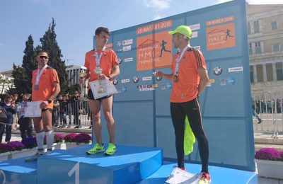 Half Marathon winners in the men's category.
