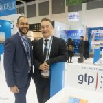 GTP's Sales & Advertising Manager, Charis Brousalian with Yiorgos Sermetzakis, Director of Sales, Epirus Palace
