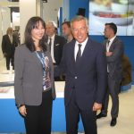 ITB Berlin 2016 - Greek Alternate Tourism Minister Elena Kountoura and Greek Tourism Confederation (SETE) Andreas Andreadis.