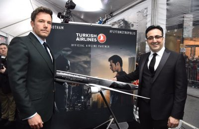 US actor Ben Affleck with M. Ilker Aycı, Turkish Airlines' Board Chairman.