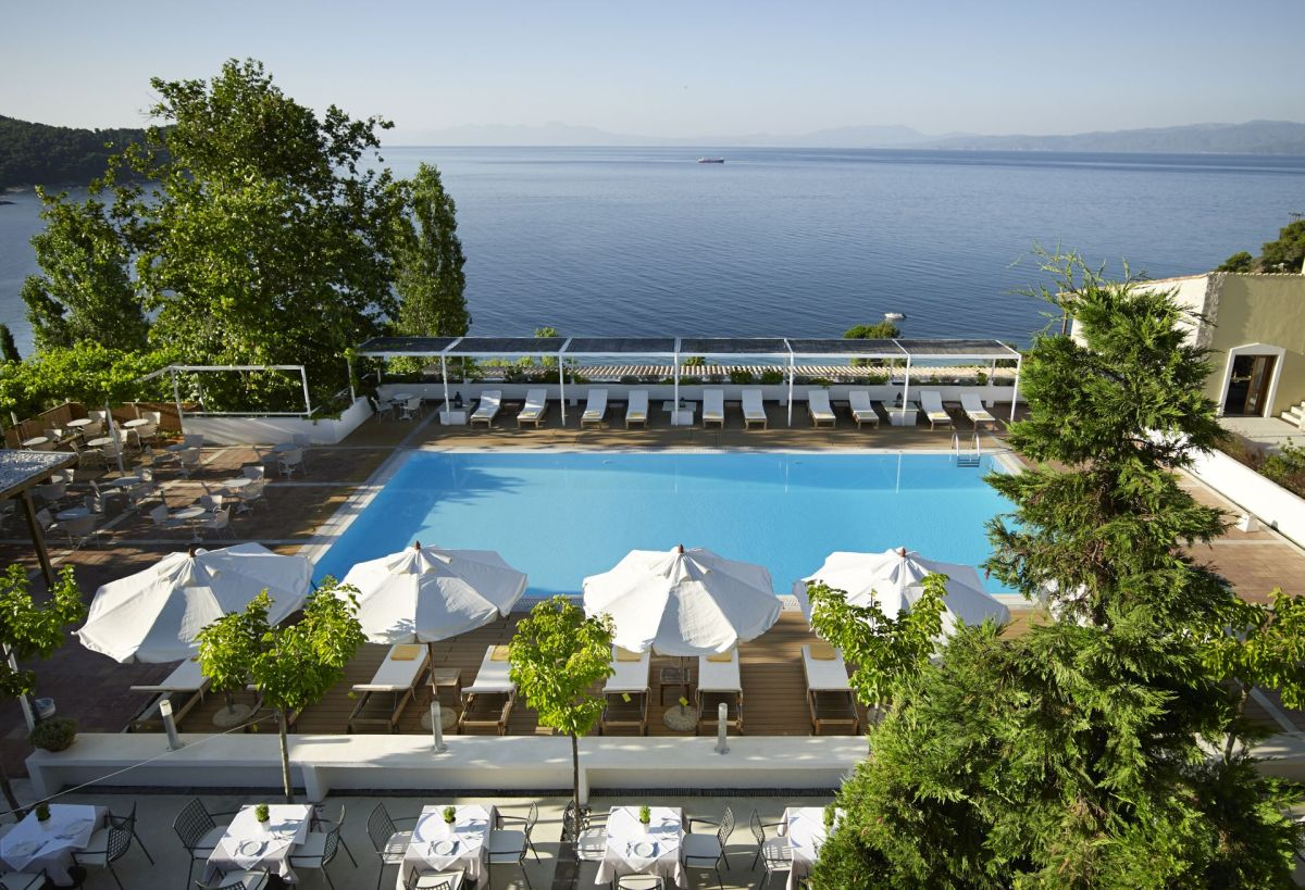 Atrium hotel push the reset button this may with the for Hotel skiathos