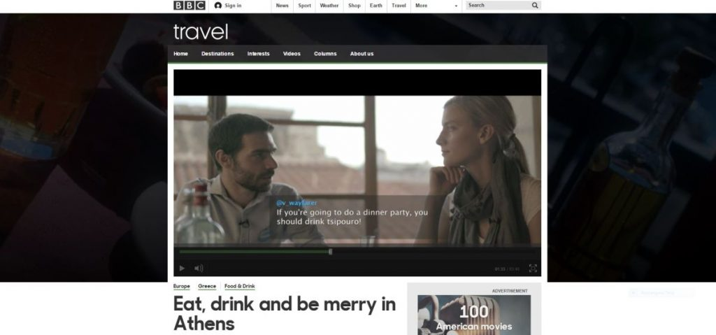 "BBC's ""RSVP Abroad"" featuring Athens."