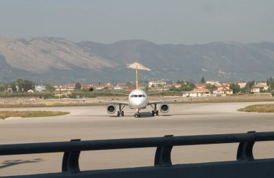 Zakynthos Island - Greece, airplane at Dionysios Solomos airport. Photo source: panoramio.com