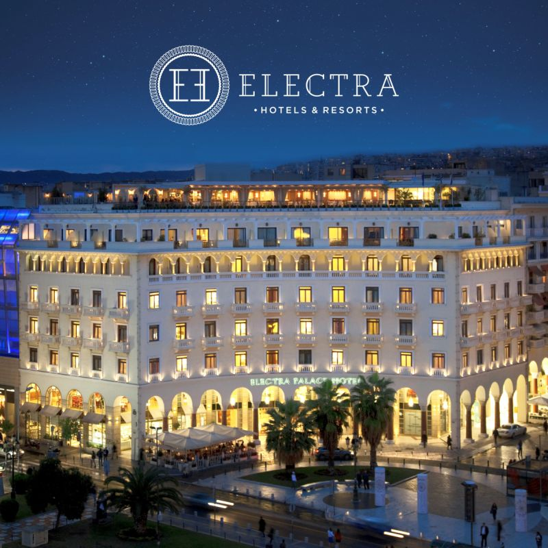 ELECTRA HOTELS AND RESORTS WITH LOGO