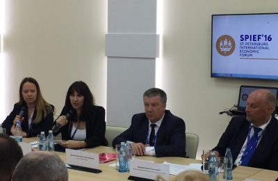 Alternate Tourism Minister Elena Kountoura discussing Greek tourism during a discussion organized by the financial newspaper Expert.