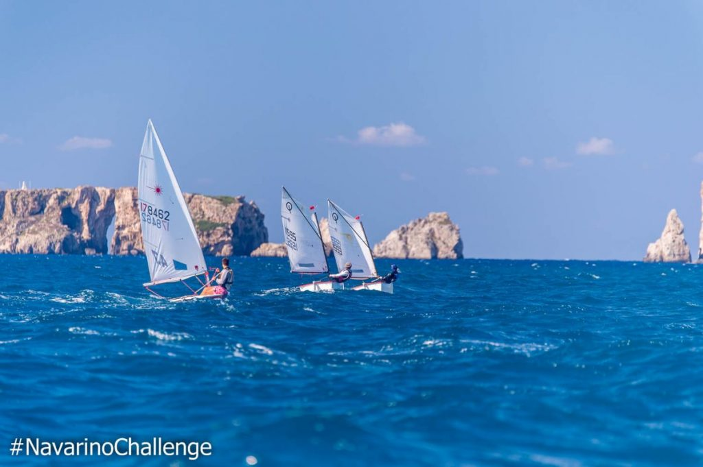 Demonstration race with Optimist and Laser boats. photo credit: Elias Lefas