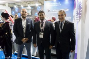 Marine Tours' Vice President & CEO Konstantinos Oikonomou, Qatar Aurways' Manager Specialty and Partnerships Rohan Bhadgaonkar and Qatar Airways' Commercial Manager Greece Alexandros Michalopoulos.