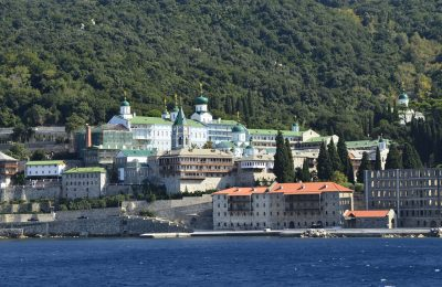 The Russian Monastery of Agios Panteleimon, Mount Athos. Photo © fritz16 / Shutterstock