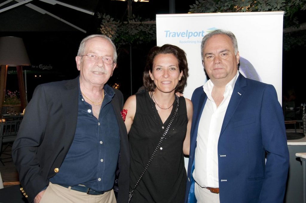 Dinos Frantzeskakis, president of the Hellenic Association of Airline Representatives (SAAE); Zoi Skreki, managing director of Intermodal Air; and Leonidas Zotos, Travelport General Manager for Greece, Cyprus and Israel.