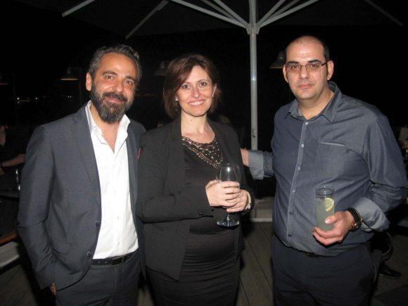 Travelport's sales manager for Greece, Helen Katsiadaki, with George Kakaroumpas of the Seminars Lab.