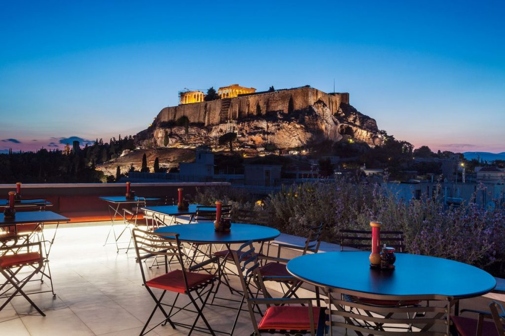 Indulging With A View At Athenswas Modern Rooftop Dining