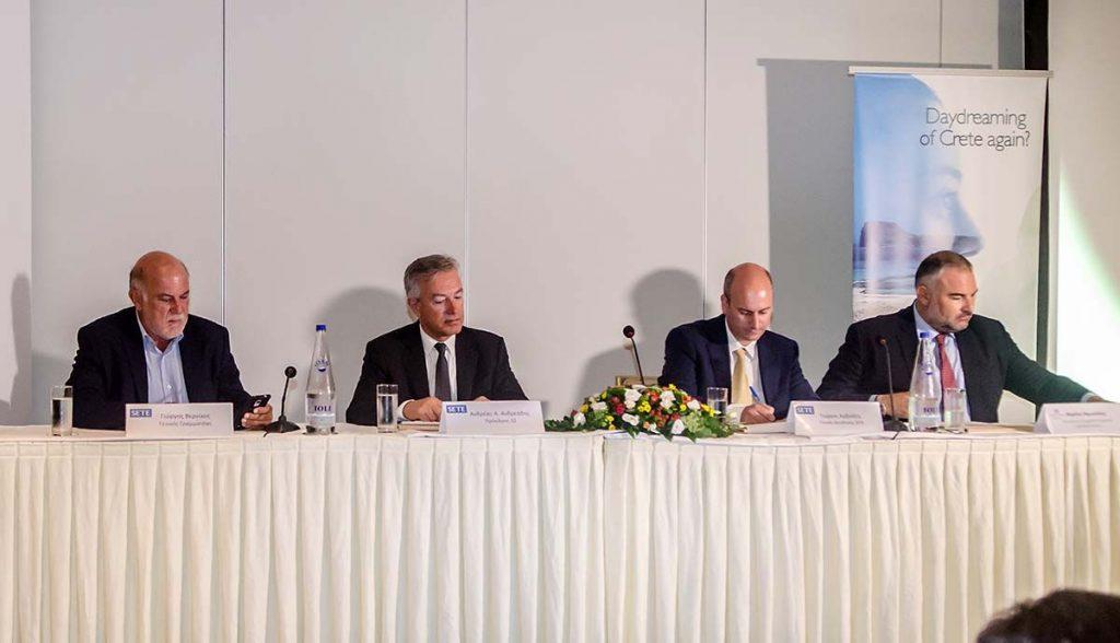 SETE's secretary general, George Vernicos; president, Andreas Andreadis; general manager, Giorgos Amvrazis and tourism commissioner for Crete, Michalis Vamiedakis.
