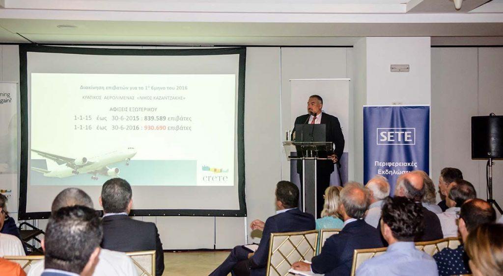 Michalis Vamiedakis, tourism commissioner for Crete.