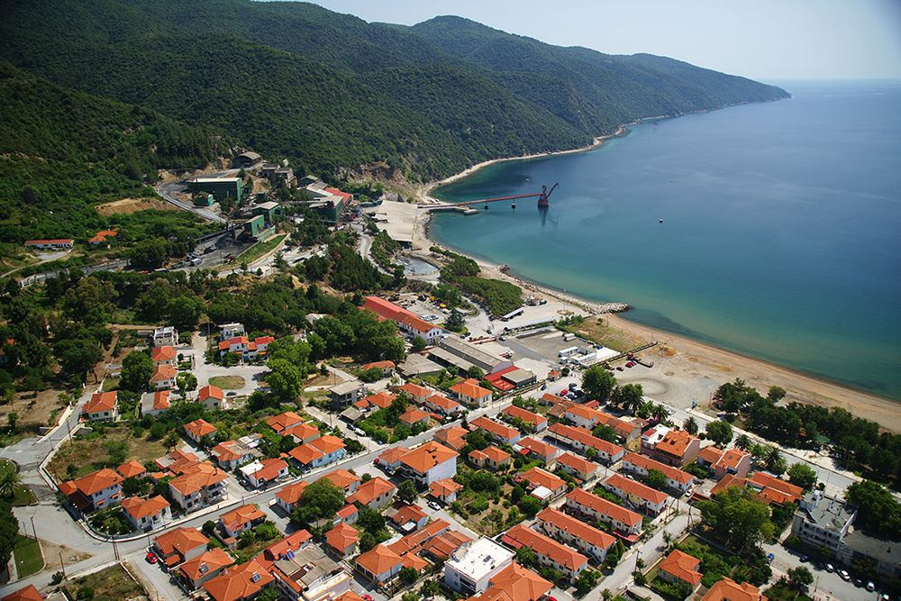 The coastal village of Stratoni in Halkidiki.