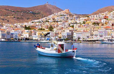 The port of Syros. Photo by Theodoros Georntamilis