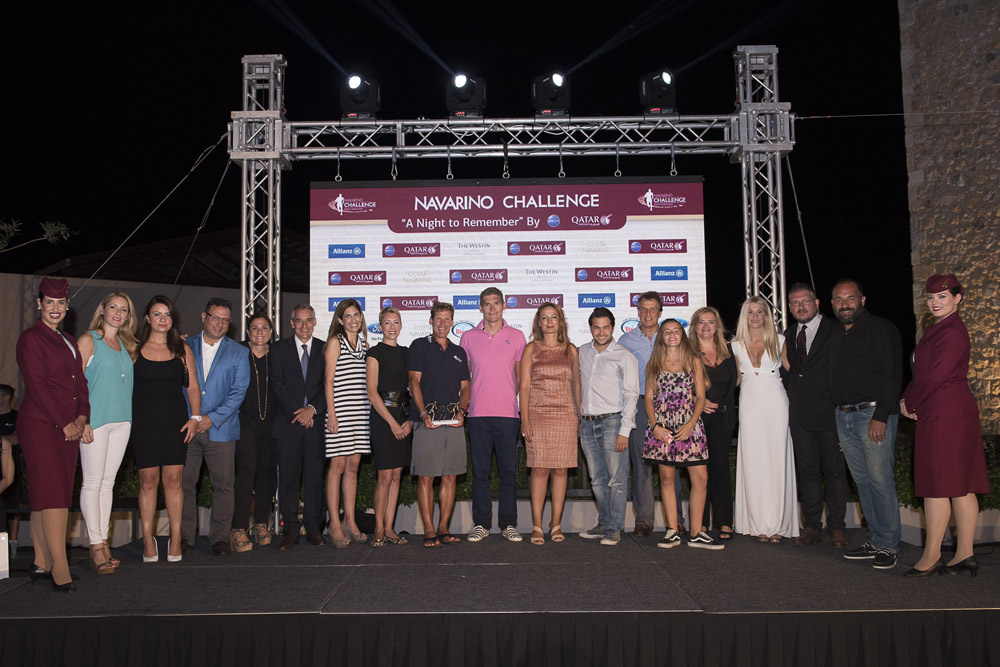 """The honorees at the cocktail """"A Night to Remember by Qatar Airways"""" of Navarino Challenge (photo credit: Vangelis Patsialos)."""