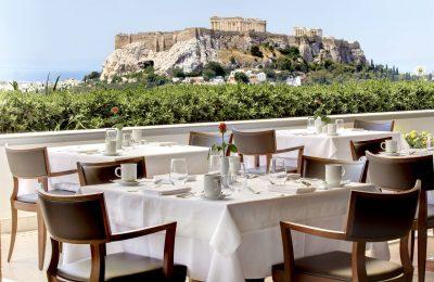 Hotel Grande Bretagne, Athens, Roof Garden Acropolis View