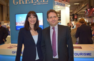 Greek Alternate Tourism Minister Elena Kountoura and Matthias Fekl, the Minister of State for Foreign Trade, the Promotion of Tourism and French Nationals Abroad.