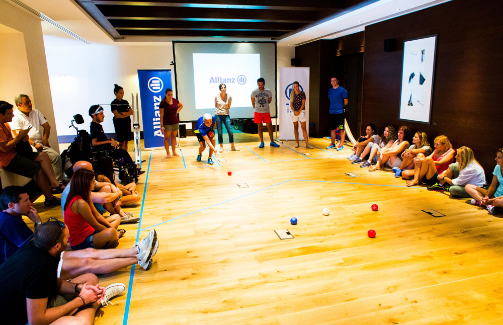 Boccia at the Navarino Challenge. Photo credit: Vladimir Rys