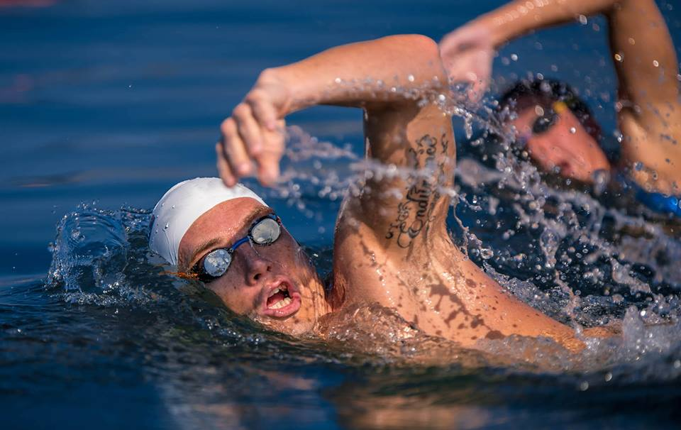 """Greek silver Olympic medalist and World Champion in open water swimming Spyros Gianniotis will take part in """"Santorini Experience"""" once again. (Photo credit: Elias Lefas)"""