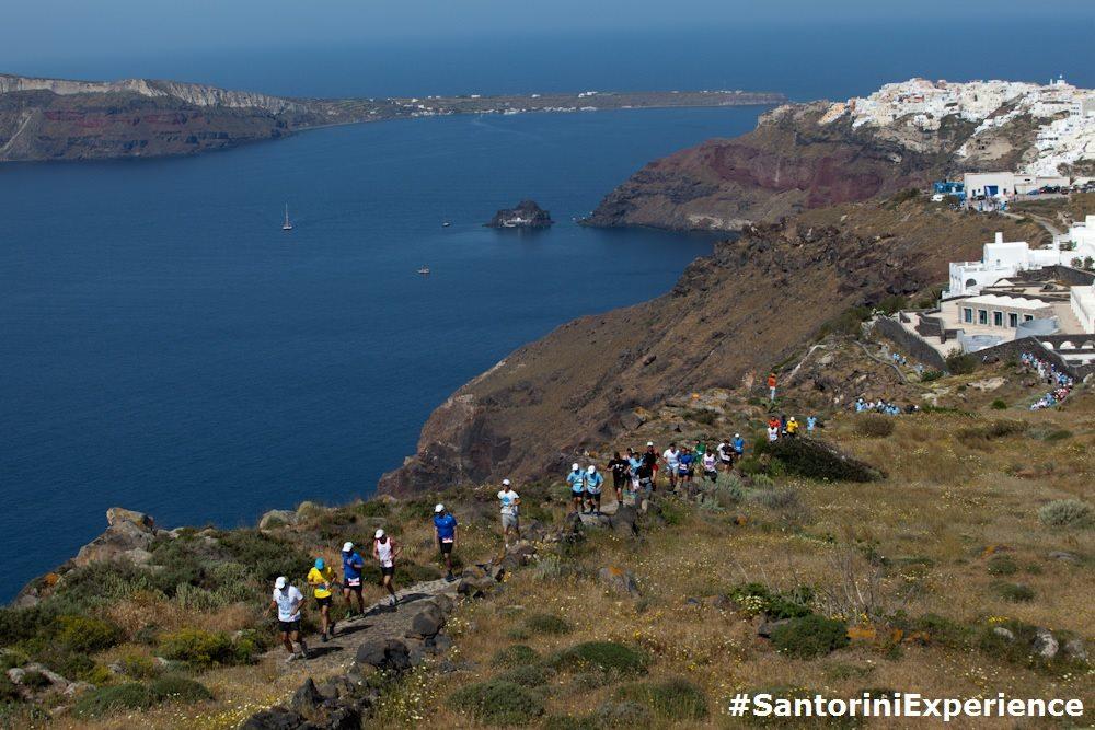 "Running in ""Santorini Experience"". (Photo credit: Babis Giritziotis)"
