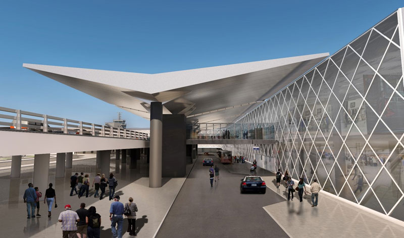 The renewed exterior of Thessaloniki's Makedonia Airport, as presented by Fraport Greece.