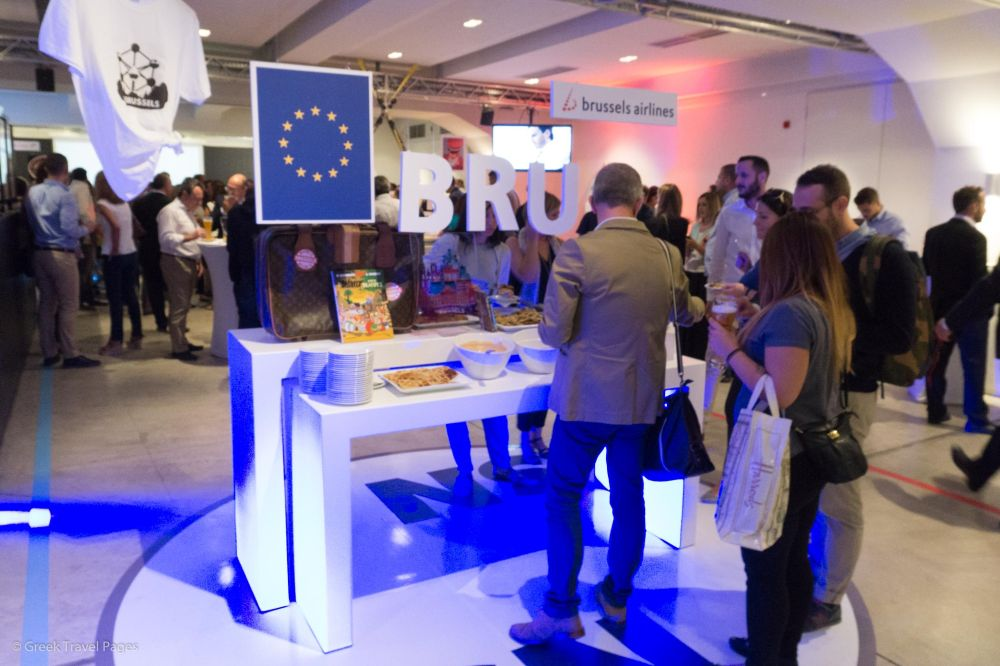 Delicious pastries and the famous Belgian waffles were served at the booth of the Brussels hub.