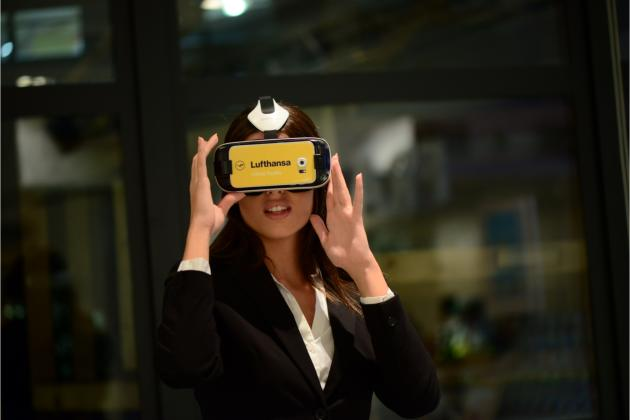 Guests had the opportunity to experience the magic of Lufthansa's virtual reality headsets.