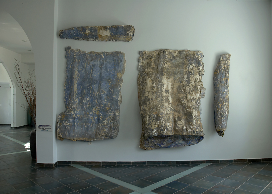 """""""Image in the matter and addition"""" by Rena Papaspyrou - Installation at the Minos Beach Art Hotel."""