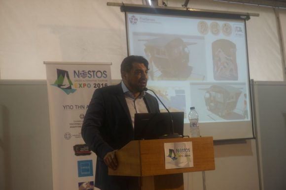 """Session: Best Practices on Special Forms of Tourism - Five Senses Consulting & Development Founder Ioannis Bras giving a presentation on """"Devleopment of a 5 Senses Model and Experience Tourism""""."""
