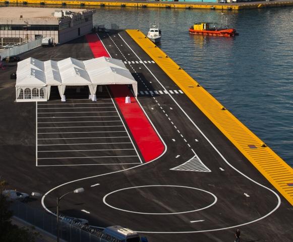 The new pier at Piraeus port.