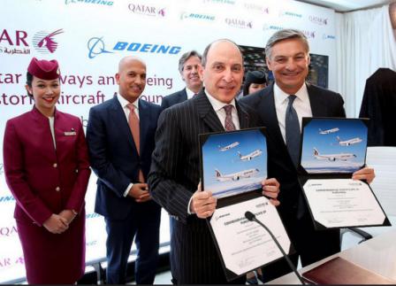 Qatar Airways Orders 40 Planes from Boeing - GTP Headlines