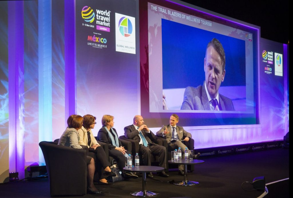 World Travel Market 2015, ExCeL, London - General view - Travel Perspectives - Face-to-Face: Twitter, Travel & Realtime Marketing
