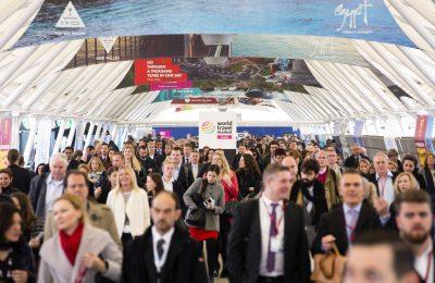 World Travel Market 2015, ExCeL, London - General view, ExCeL entrance area