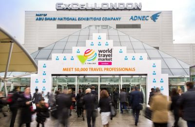 World Travel Market 2015, ExCeL, London - General view, ExCeL entrance area