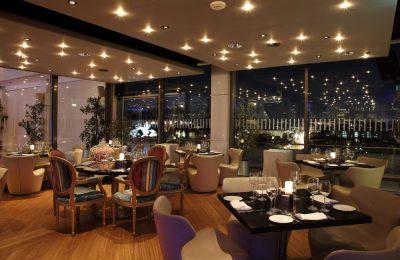 Galaxy restaurant winter concept.