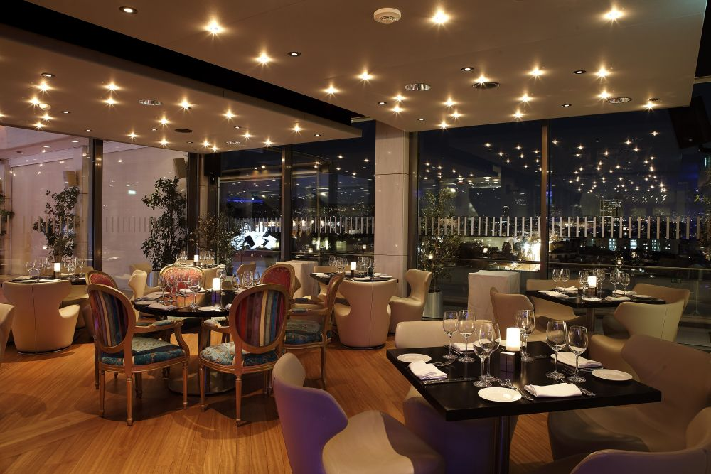 Hilton athens 39 galaxy restaurant promises a unique winter dining experience gtp headlines - Pictures of bars ...