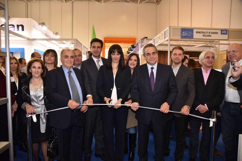 Τα εγκαίνια της έκθεσης Greek Tourism Expo πραγματοποίησε η Υπουργός Τουρισμού κα Έλενα Κουντουρά.