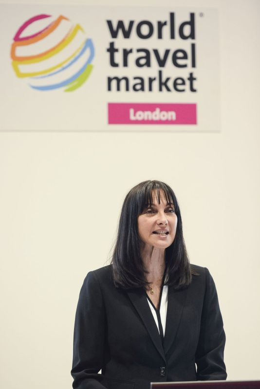 World Travel Market, 2016, ExCeL London - Greek National Tourism Press Conference - Miss Christina Kalogera - Director GNTO UK Ireland