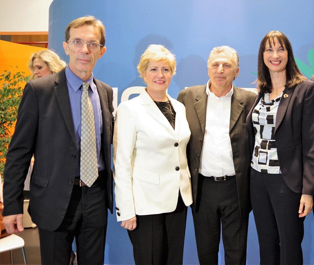 Tasos Tzikas, President TIF-HELEXPO; Maria Kollia Tsarouha, Deputy Minister of Macedonia-Thrace; Boris Mouzenidis, Mouzenidis Group chairman; and Elena Kountoura, Tourism Minister.