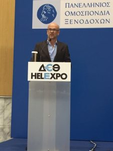 Hellenic Federation of Hoteliers President Yiannis Retsos.