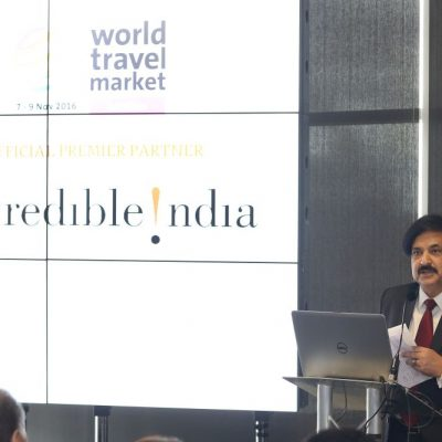 Incredible India Press Conference. Vinod Zutshi (Secretary Tourism Government of India)